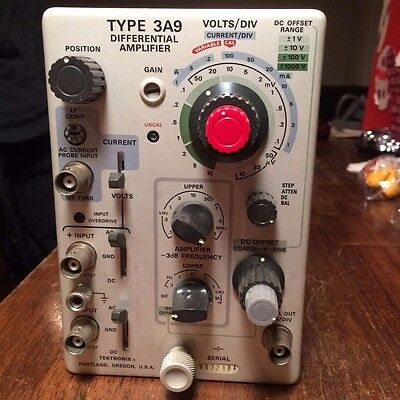Tektronix Oscilloscope Type 3A9 Differential Amplifier