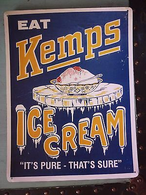 Cool Advertising Repro Kitchen Dairy Kemps Ice Cream Parlor Soda Shop Sign