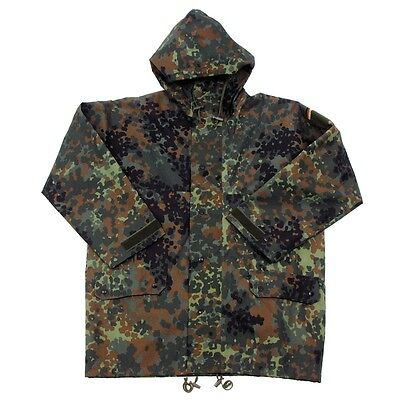 GERMAN GORETEX JACKET MEDIUM, Flecktarn Camo  MVP, waterproof, breathable, ARMY