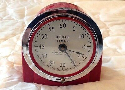 Vintage Kodak Red Art Deco Style Darkroom Timer No. 8239 With Box! CLEAN!!!