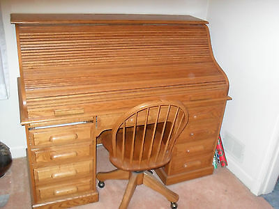 Amish Hand-Made Roll Top Desk