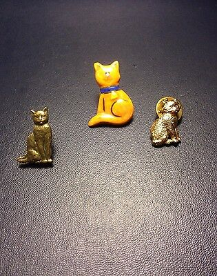 Jewelry Lot Of 3 Cat Tack Pins Fashion Jewelry Kitten Lot SC-7