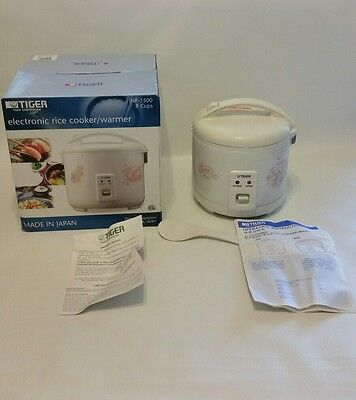 Tiger JNP 1500 FL 8 Cup Uncooked Rice Cooker and Warmer Floral White