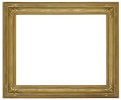 11 x 14 Arts & Crafts Style Picture Frame HandApplied Gold Leaf Beautiful Style