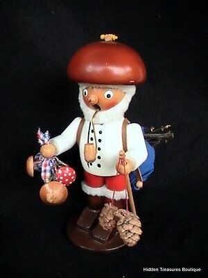 Vintage Steinbach German Nutcracker Smoker Hiker Wood Carving Figurine