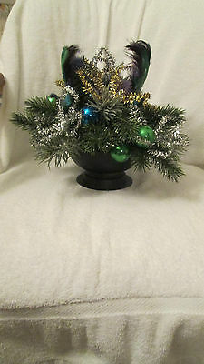Peacock Bird Wedding Decor Large Centerpiece Feather Tail Sequin Head Christmas