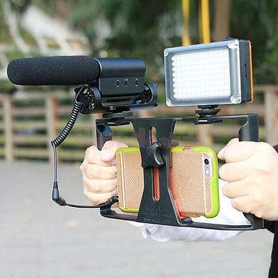 Phone Camera Video Cage Stabilizer Rig for Smartphone LED Light Microphone
