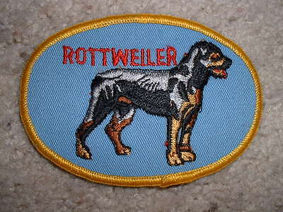 """Vintage Rottweiler dog standing patch embroidered 4 1/4"""" X 3"""""""