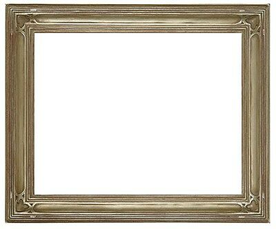 11 x 14 Arts & Crafts Style Picture Frame HandApplied Silver  Beautiful