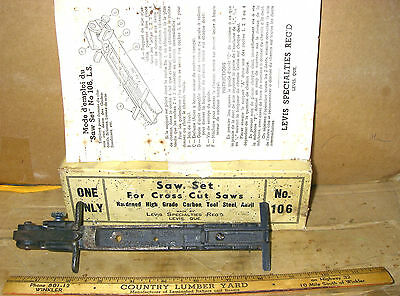 Vintage Levis, Quebec, Canada No. 106 Saw Set, Instructions, In The Original Box
