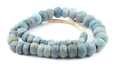 Antique Turquoise Hebron Kano Beads Natural 19mm West Africa African Blue Glass