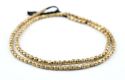 Rounded Rectangle Brass Beads (3x2.5mm)