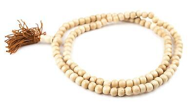 Vintage-Style Mala Bone Beads 8mm Nepal Brown Round Large Hole 28 Inch Strand