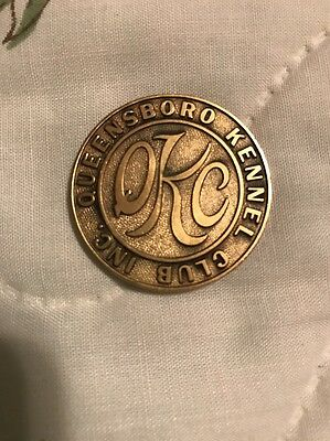 Dog Show Medal Queensboro Kennel Club NY QKC New York VINTAGE