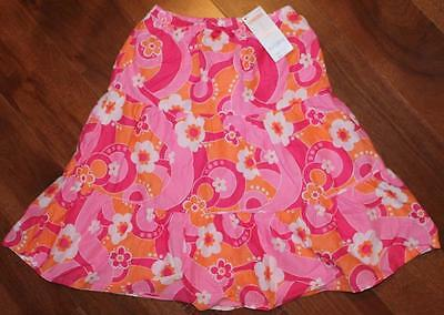 NWT, Girls, GYMBOREE-SPRING VACATION, Pink, Coral & White Skirt, Flowers, Size 6