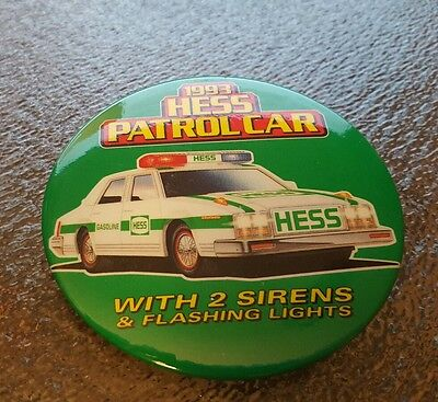 1993 Hess Patrol Car Button.  New