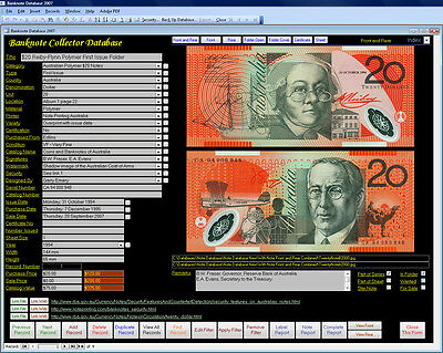 Banknote Note Image Database Software Pro CDROM for Windows