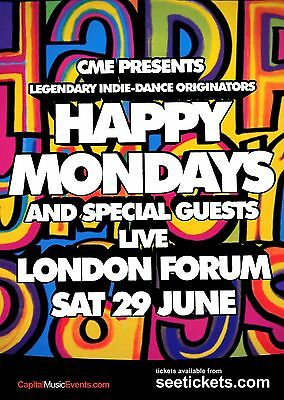 Happy Mondays Poster 5 - Various Sizes - Price Includes Uk Post