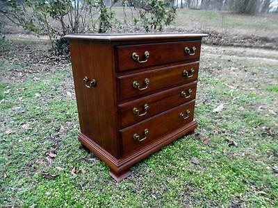 VTG Solid Cherry 4 Drawer Traditional Nightstand Chairside Chest J B Van Sciver