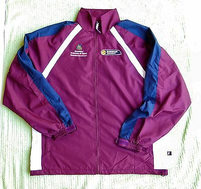 QUEENSLAND ACADEMY OF SPORT Basketball FREE POST Queensland lined Jacket size L