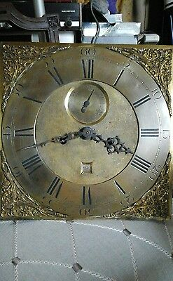 Antique late 18th century longcase 8 day clock movement 12""