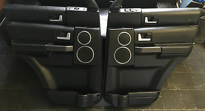 Land Rover Discovery 3 Door Panel Trim Front & Rear Set Complete Ebony Black
