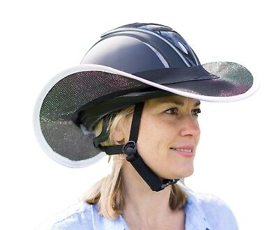 """new ""western  Horse Riding Helmet Shade Brim Only In Black With  White"