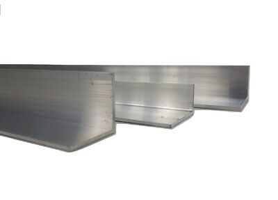 Aluminium Extruded Angle Various Sizes Thickness 2 - 6 mm / 500mm - 1000 LONG