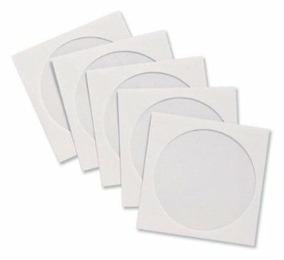 CD Sleeve Envelopes Paper with Window W126xH126mm White