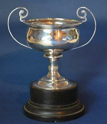 Solid Sterling Silver:  Trophy on Plinth (calcutta lahore simla delhi) 87g's