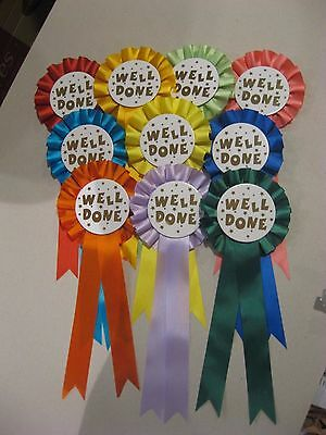 50 X 1 Tier Well Done Rosettes For Awards