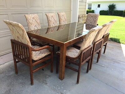 henredon dining set (table, one leaf and 8 chairs)