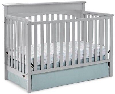 Convertible Crib 4-in-1 Nursery Crib Toddler Bed Multiple Finish NEW