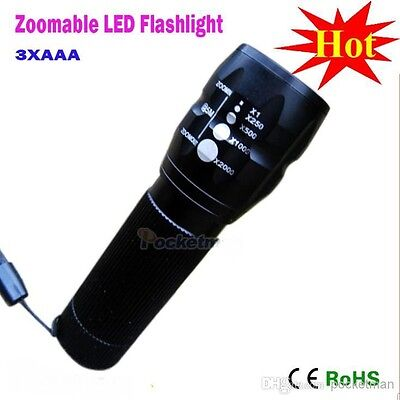 LED Torch Light BRIGHT CREE  2000 Lumens CREE Boating Camping Fishing Zoomable