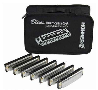 Hohner Blues Band Set of Seven Harmonicas
