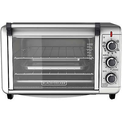 Black & Decker Electric Convection Oven Pizza Toaster Stainless Steel Countertop