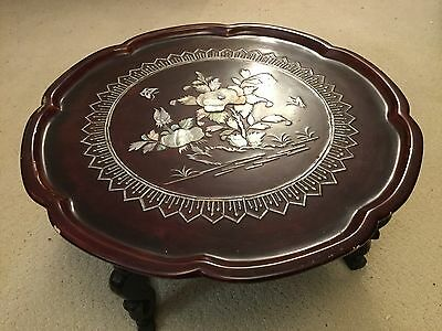 *high Quality* Vintage Chinese  Inset Miniature Table