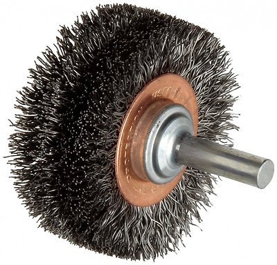 Weiler Wide Face Wire Wheel Conflex Brush, Round Shank, Steel, Crimped Wire, 2""