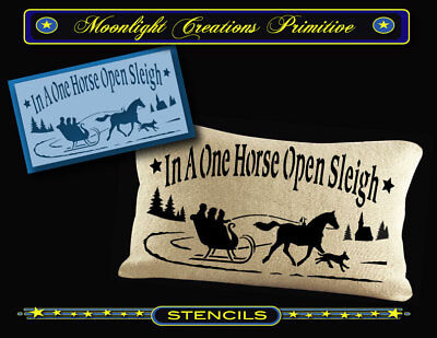 Primitive Stencil~BERHOFF/'S SLEDS~Classic Old Fashion Vintage Winter Sled Ad