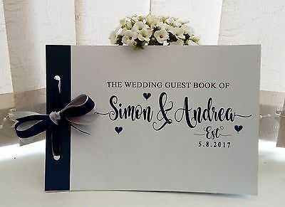 Personalised Wedding Guest Book,memory Album Wedding Avail In Any Colour