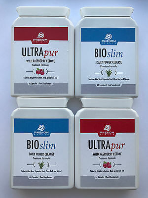 2x ultrapur wild raspberry ketone 2x bioslim slim daily power cleanse picclick uk. Black Bedroom Furniture Sets. Home Design Ideas