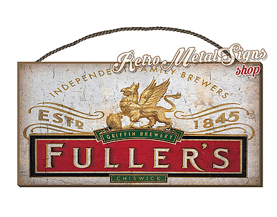 Fullers Lager Beer  Vintage Retro Wall Hanging Plaque Sign