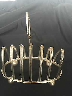 Antique English Sterling Silver Plate Toast Rack By Mappin Bros Pre1902