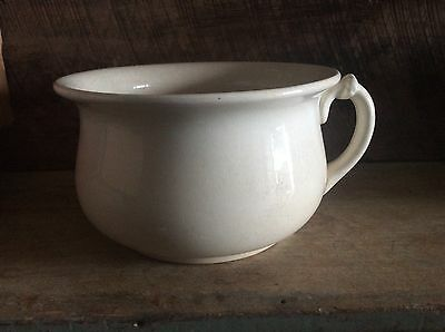 Vintage D.E. East Liverpool Ohio Chamber Pot , American Pottery