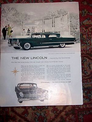1958 Lincoln Coupe & Continental Mark III Ad