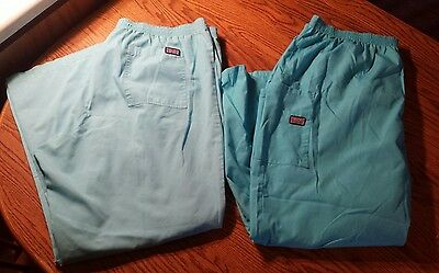 Lot Of 2 Cherokee WorkWear Cargo Pull on Scrub Pants Size 2XL