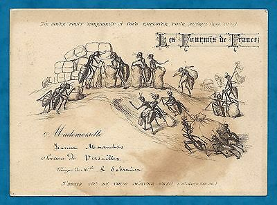 "C1890's Illustrated French Membership Card ""the Ants Of France"" Religious Club?"
