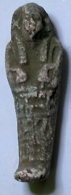 Egyptian Pharaoh Amulet, Ushabti, Faience Amulet 55 mm, see description