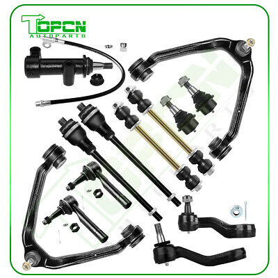 For Chevy Silverado 1500 13PCS Front Upper Control Arms Tie Rods Idler Arm Kit