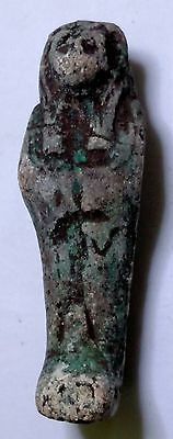 Egyptian Pharaoh Amulet, Sekhmet Goddess of War, Faience Amulet see description